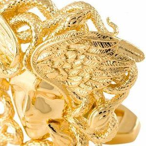 Versace Accessories - Versace Gold Medusa Snake Cufflinks